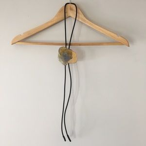Vintage Pressed Flower Bolo Tie